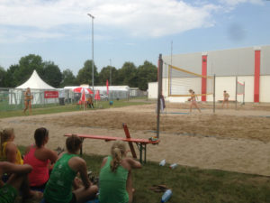 Unsere Beachanlage während dem Bergsträßer Volleyballturnier