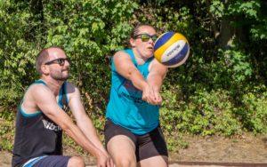Doro und Sebastian Wagner, die sich im Halbfinale geschlagen geben mussten