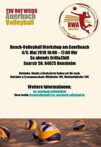 TSV RW A Beach-WS Einladung